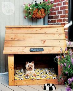 Why is using a dog house a good idea? Most people tend to have the misconception that dog houses are meant for only those dog owners who intend to keep their dogs outside. Diy Niche Chien, Pet Beds, Dog Bed, Canis, Positive Dog Training, Dog Rooms, Animal Projects, Outdoor Dog, Outdoor Living