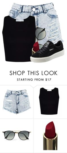 """""""Untitled #685"""" by justinbieber-zaikara ❤ liked on Polyvore featuring Boohoo, Ray-Ban and Puma"""