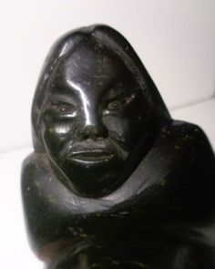 A personal favorite from my Etsy shop https://www.etsy.com/ca/listing/256060279/inuit-eskimo-art-soapstone-mannumi-shaqu