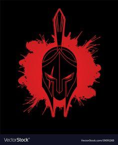 Spartanischer Helm, Fallen Angel Tattoo, Helmet Drawing, Spartan Tattoo, Greek Helmet, Scary Drawings, Venom Art, Iron Man Art, Greek Warrior