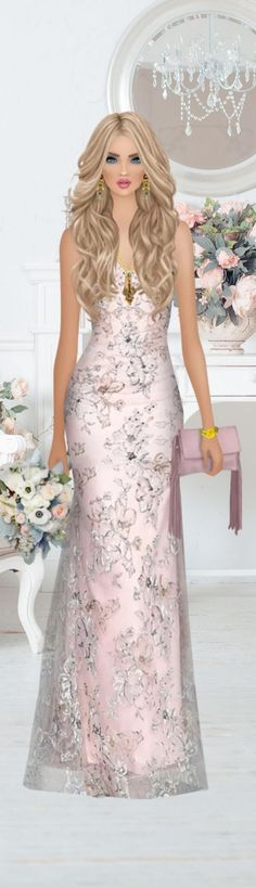 Fantasy Art Angels, Covet Fashion, Fashion Looks, Pink Dresses, Formal Dresses, Betty Boop, Puzzles, Barbie, Mermaid