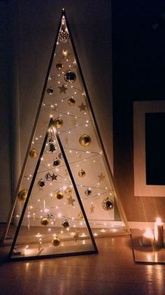 48 Christmas Decor To Rock This Season - Futuristic Interior Designs Technology - 48 Christmas Decor To Rock This Season interiors homedecor interiordesign homedecortips - Easy Christmas Decorations, Wooden Christmas Trees, Easy Christmas Crafts, Christmas Projects, Simple Christmas, Christmas Home, Handmade Christmas, Christmas Holidays, Christmas Ornaments