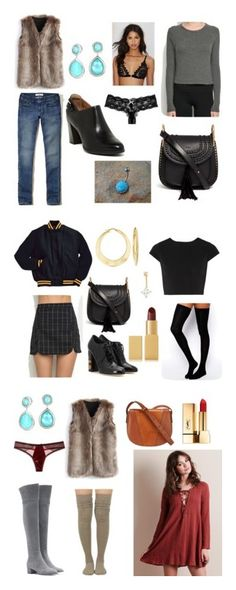"""Everyday"" by princessivyx on Polyvore featuring Hollister Co., Chicwish, Ippolita, Chloé, Clarks, Eberjey, For Love & Lemons, Brandy Melville, Alice + Olivia and ASOS"