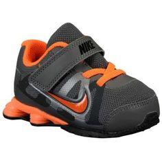 Nike Shox Roadster - Toddlers - Running - Shoes - Dark Grey/Metallic Cool Grey/Total Orange