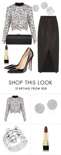 """""""Sem título #3373"""" by beatrizvilar ❤ liked on Polyvore featuring Jimmy Choo, self-portrait, Anne Sisteron, Michael Kors, Christian Louboutin and Dolce&Gabbana"""