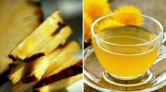 Chá diurético: Casca de abacaxi, canela em pó e água filtrada..