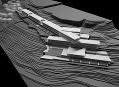 Project shows Ataşehir and maps show Ümraniye - Arkitera Concept Models Architecture, Architecture Model Making, Modern Architecture, Town Country Haus, Landscape Model, Arch Model, Building Design, Design Model, Seaside Resort
