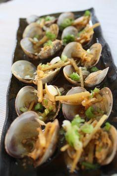 Garlic Ginger Miso Clams