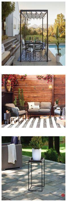 37 amazing rock garden design ideas 55 « Home Decoration Back Patio, Backyard Patio, Backyard Landscaping, Landscaping Ideas, Outdoor Rooms, Outdoor Living, Outdoor Decor, Outdoor Ideas, Cabana