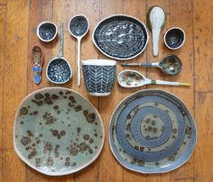 Suzanne Sullivan's work. I think these are lovely. I really want to make a set of dishes for myself this next year...