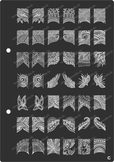 Ooooh my gosh, look what I found! XL plate with 26 different full-nail stamping patterns. I feel that eventually I'll buy it.