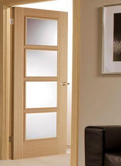 New internal door ideas offices 32 ideas Porch Doors, Wood Front Doors, Oak Doors, Wooden Doors, Frosted Glass Internal Doors, Frosted Glass Door, Glass Doors, Black Exterior Doors, Sweet Home