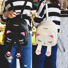 11ded1e18782 Cute Cat female cartoon Fashion Backpack The bag is perfect in workmanship.  The elegant design