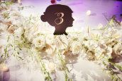 Table Number, Hill Country Wedding from Anne Marie Photography | Style Me Pretty