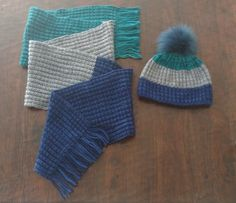 Fisherman's Rib Hat and Scarf Set - v e r y p i n k . c o m - knitting patterns and video tutorials