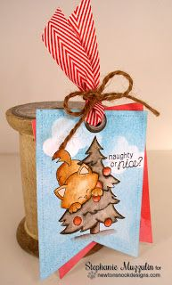 Handmade Creations by Stephanie: The 25 Days Of Christmas Tags | Newton's Curious stamp set by Newton's Nook Designs #newtonsnook