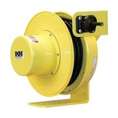 KH Industries RTF Series ReelTuff Power Cord Reel with Constant Tension for Festooning Systems, SOOW Cable, Length, Yellow Powder Coat Finish Power Bars, Electrical Cord, Cord Management, Extension Cord, Wall Mounted Tv, Powder Coating, Cable, Industrial, It Is Finished