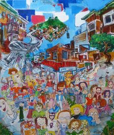 Mission Artists Art : Dance City by Todd Berman Art Auction, Auction Ideas, Drawing People, Artist Art, Art School, Creative Inspiration, Art Pieces, Community, Dance