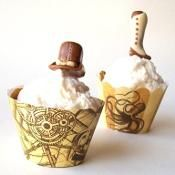 Steampunk Cupcake Wrappers - via @Craftsy