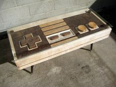 NES Controller Coffee Table--Danny can finally have a piece of furniture that's all his own!  (Besides his computer chair...)