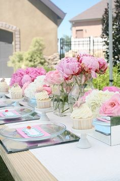 Pink peonies for the table