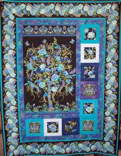 Tree of Life Quilt Kit - beautiful panel with easy to put together borders.