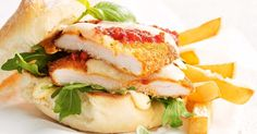 What's better than a chicken parmi? A chicken parmi in a burger!