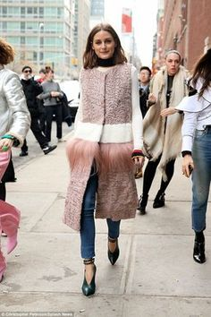 UnFURgettable: The 31-year-old reality TV star turned fashion expert looked comfortable in...