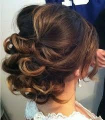 Image result for updos curly shoulder length hair