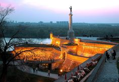 The Fortress of Belgrade with Victor (Pobednik) ~ Serbia Sofia Bulgaria, Most Beautiful Pictures, Beautiful Places, Amazing Places, Wonderful Places, Belgrade Fortress, Belgrade Serbia, Historical Monuments, Culture