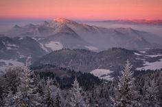 """""""Mount Trzy Korony""""  Wysoki Wierch, NP Pieniny Mountains, Poland"""