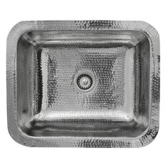 Nantucket RES Brightwork Home Single Bowl Hammered Stainless Steel Dual-Mount Bar/Prep Sink