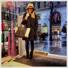 Stassi Schroeder.. hat, handbag and boots from Shop Prima donna..