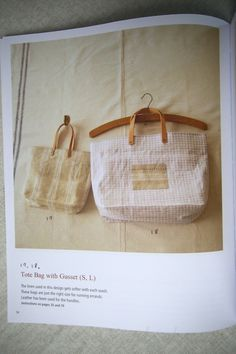 handmade bag. English edition of japanese pattern book