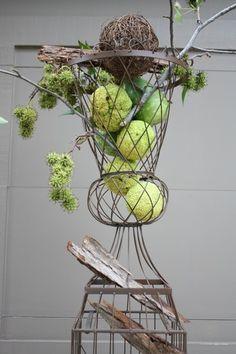 Hedge apple fall decor