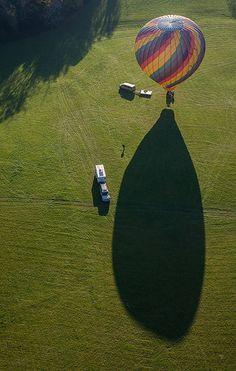 Hot Air Balloon from Above follow http://pinterest.com/ahaishopping/