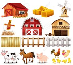 Vector Illustration Of The Things And Animals Found At The Farm On A. Royalty Free Cliparts, Vectors, And Stock Illustration. Pic Of The Things And Animals Found At The Farm On A. Royalty Free Cliparts, Vectors, And Stock Illustration. Farm Vector, Vector Art, Vector Stock, Farm Animal Crafts, Farm Animals, Illustration Sketches, Free Illustrations, Farm Cartoon, Inkscape Tutorials