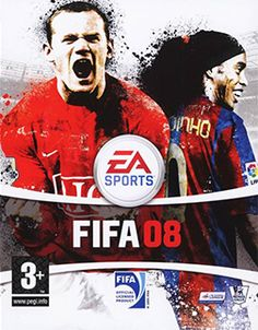 FIFA Soccer 08 [PlayStation, Nintendo DS, Wii, Xbox 360, PC, N-Gage 2 and Zeebo Mobile] featuring on the cover, Wayne Rooney and Ronaldinho