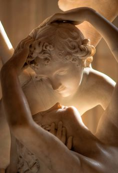 Antonio Canova's sculpture of Cupid and Psyche ~  Musée du Louvre ~ Paris ~ by Julien Fournial