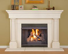 Cast Stone Fireplace Mantels at Mantels Direct. Your source for stone fireplace mantels, cast stone mantels, stone fireplace mantels, cast stone fireplaces and stone fireplaces Fireplace Mantel Kits, Fireplace Mantel Surrounds, Stone Fireplace Mantel, Rustic Mantel, White Fireplace, Marble Fireplaces, Fireplace Design, Simple Fireplace, Mantel Shelf