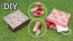 DIY Square Zipper Pouch | Cosmetic Pouch | Face Mask Pouch | Sanitary Pad Pouch [sewingtimes] - YouTube Picnic Blanket, Outdoor Blanket, Purse Patterns, Cosmetic Pouch, Hobbies And Crafts, Zipper Pouch, Sewing Tutorials, Purses And Bags, Diy Crafts