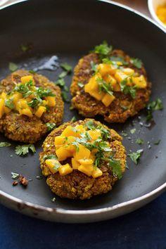 Curried Veggie Burgers - Vegan