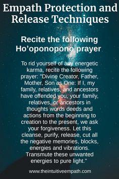 Ho'oponopono is a powerful tool updated for today's youth. Spiritual Prayers, Prayers For Healing, Spiritual Wisdom, Spiritual Awakening, Empath Traits, Intuitive Empath, Oponopono Mantra, Smudging Prayer, Empath Abilities