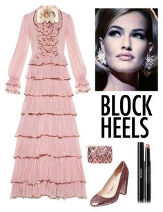 """""""Elegant Boxed Heels"""" by kotnourka ❤ liked on Polyvore featuring Gucci, Betsey Johnson, Stephanie Johnson and Chanel"""