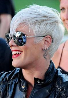 Gray hair color and hairstyles best hairstyles haircuts Short Grey Hair color Gray Hair Haircuts Hairstyles Short Hairstyles For Women, Hairstyles Haircuts, Summer Hairstyles, Trendy Hairstyles, Singer Pink Hairstyles, Pink Short Hair, Short Hair Cuts, Short Hair Styles, Pixie Cuts