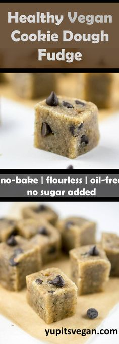 Healthy Vegan Chocolate Chip Cookie Dough | Yup, it's Vegan. Amazing dairy-free, gluten-free, grain-free, paleo, refined sugar-free, cookie dough fudge. Made from heart-healthy walnuts, hemp seeds and flaxseeds and sweetened with dates. Satisfy your vegan cookie dough craving!