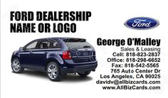 2013 Ford Edge Business Card ID# 20943