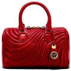Henri Bendel No. 7 Barrel ($199) ❤ liked on Polyvore featuring bags, handbags, purses, burgundy, henri bendel handbags, cellphone pouch, red handbags, tortoise shell purse and henri bendel
