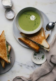 Simple Asparagus Soup and an Extra Cheesy Grilled Cheese with Broccolini   A Cozy Kitchen   Bloglovin'