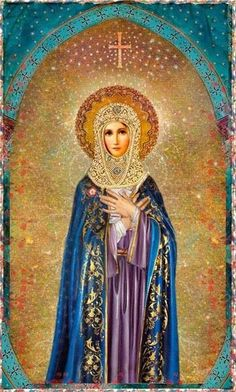 Mother Mary, Queen of Heaven and Earth Divine Mother, Blessed Mother Mary, Blessed Virgin Mary, Virgin Mary Art, Queen Mother, Religious Icons, Religious Art, Art Beat, Queen Of Heaven